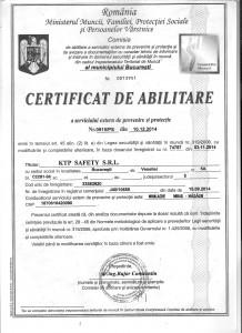 Certificat abilitare KTP 001